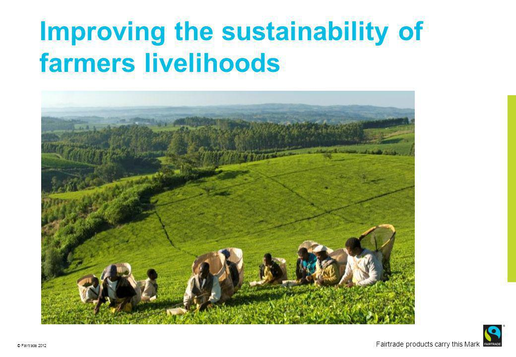 © Fairtrade 2012 Fairtrade products carry this Mark Improving the sustainability of farmers livelihoods