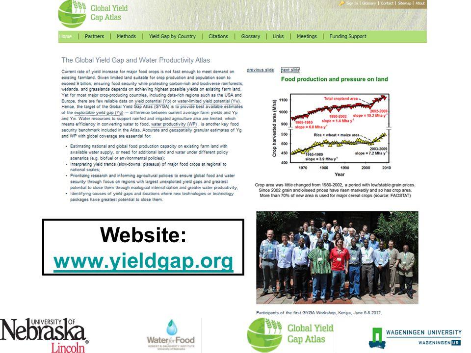 Website: www.yieldgap.org www.yieldgap.org