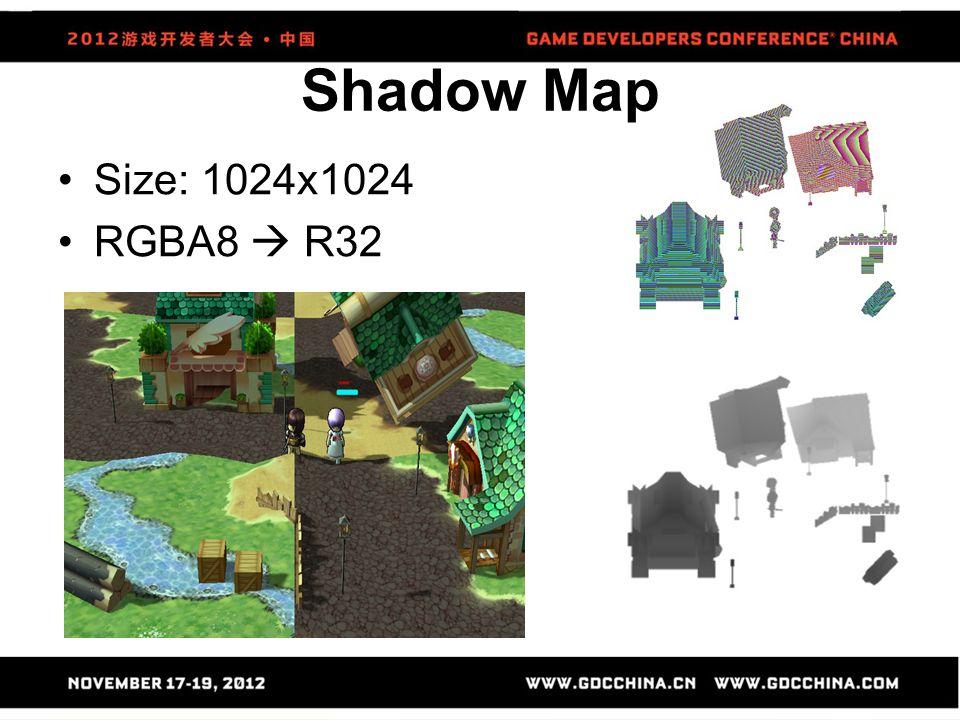 Size: 1024x1024 RGBA8  R32 Shadow Map