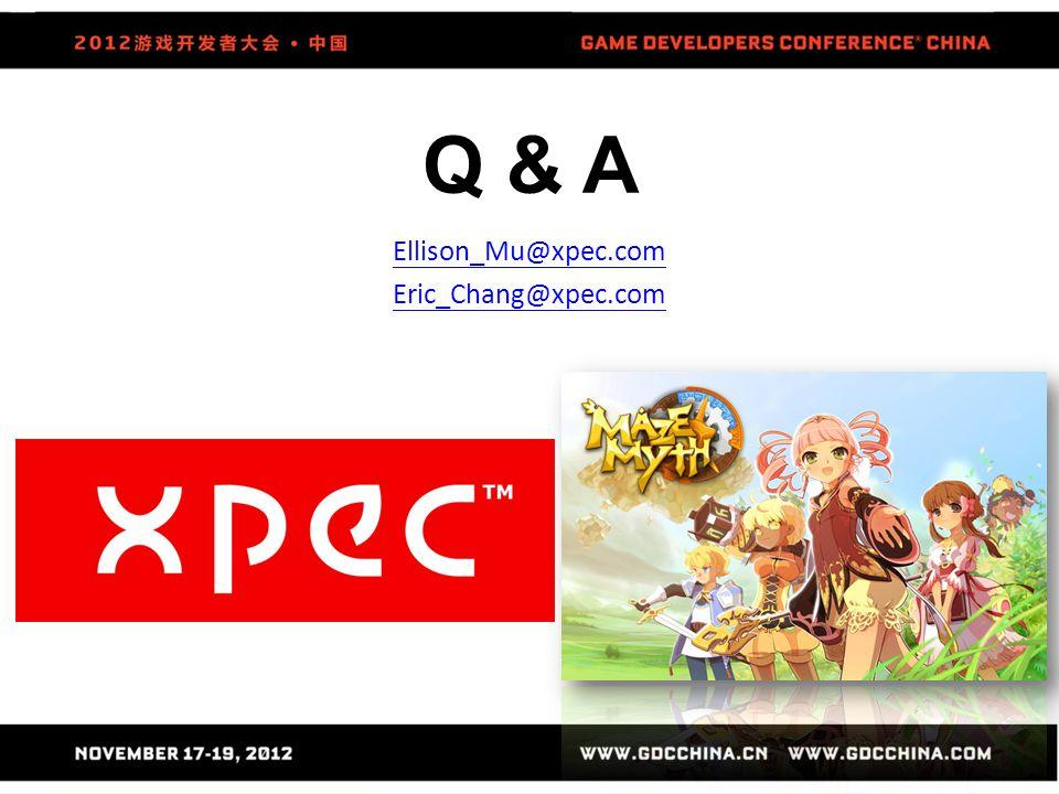 Q & A Ellison_Mu@xpec.com Eric_Chang@xpec.com