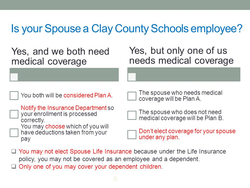 Is your Spouse a Clay County Schools employee.