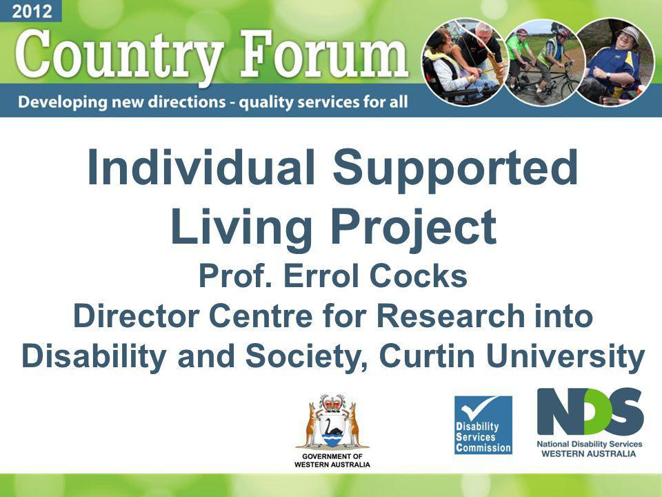 Individual Supported Living Project Prof.