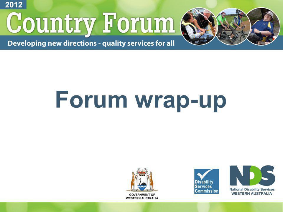 Forum wrap-up
