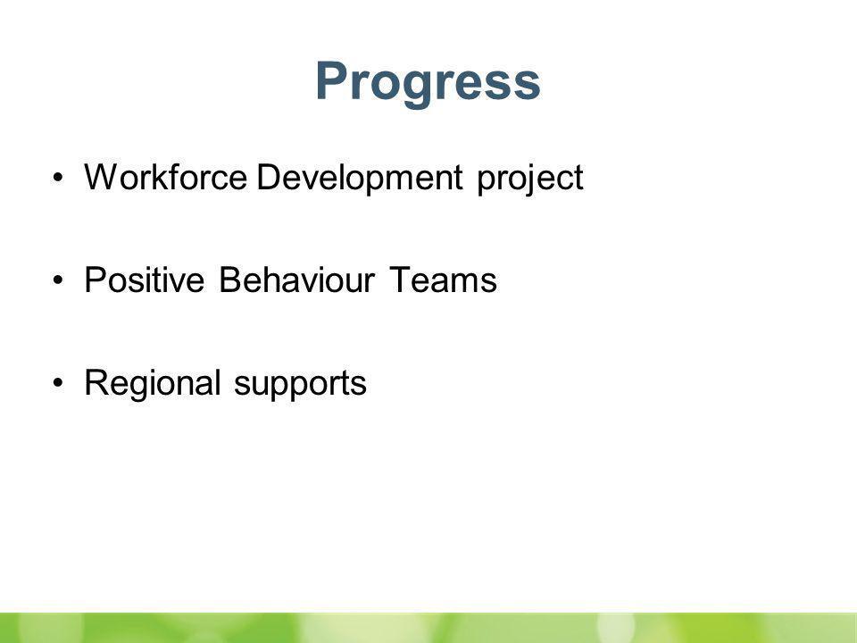 Progress Workforce Development project Positive Behaviour Teams Regional supports