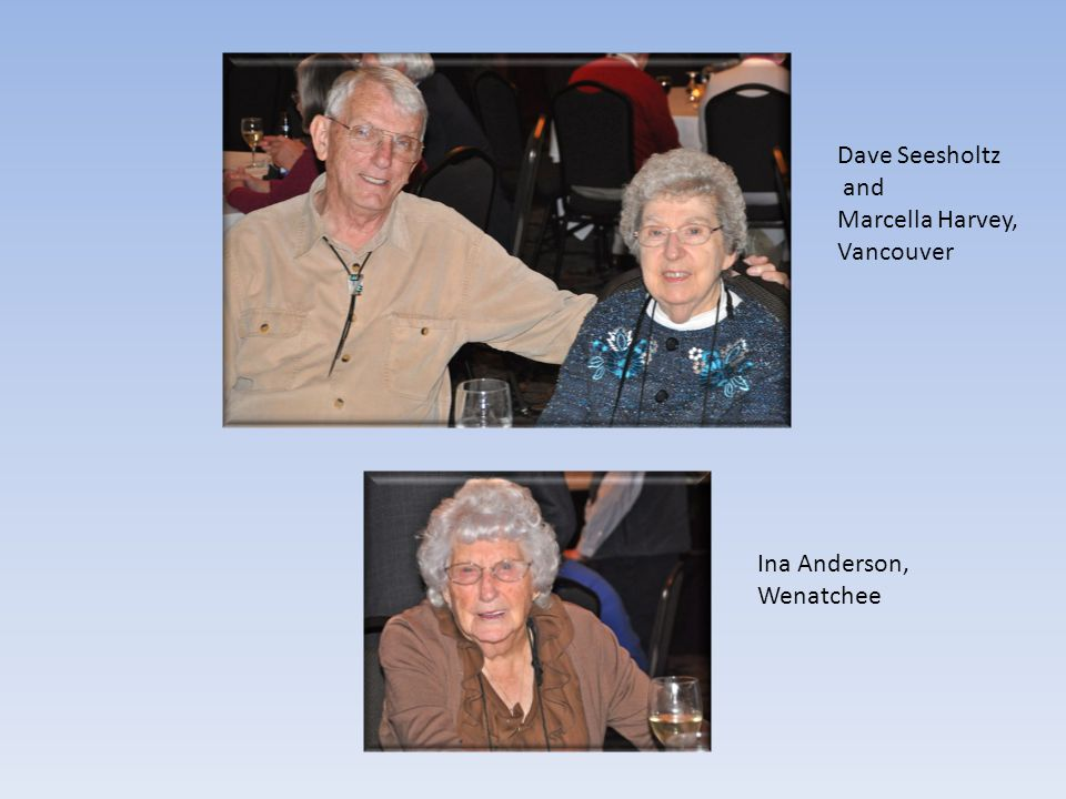 Ina Anderson, Wenatchee Dave Seesholtz and Marcella Harvey, Vancouver