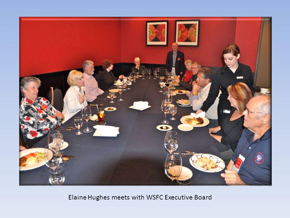 Elaine Hughes meets with WSFC Executive Board