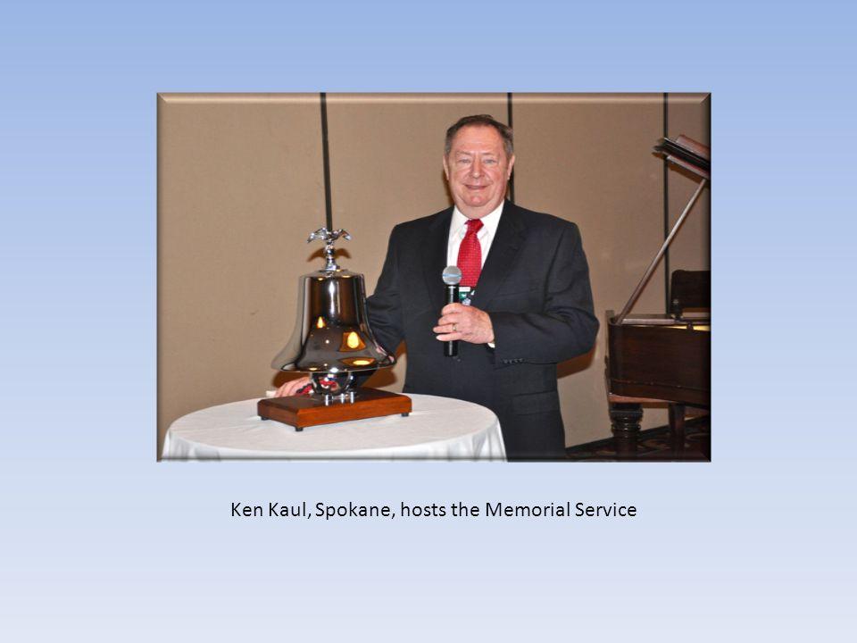 Ken Kaul, Spokane, hosts the Memorial Service