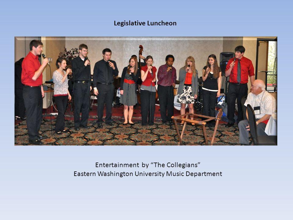 Legislative Luncheon Entertainment by The Collegians Eastern Washington University Music Department