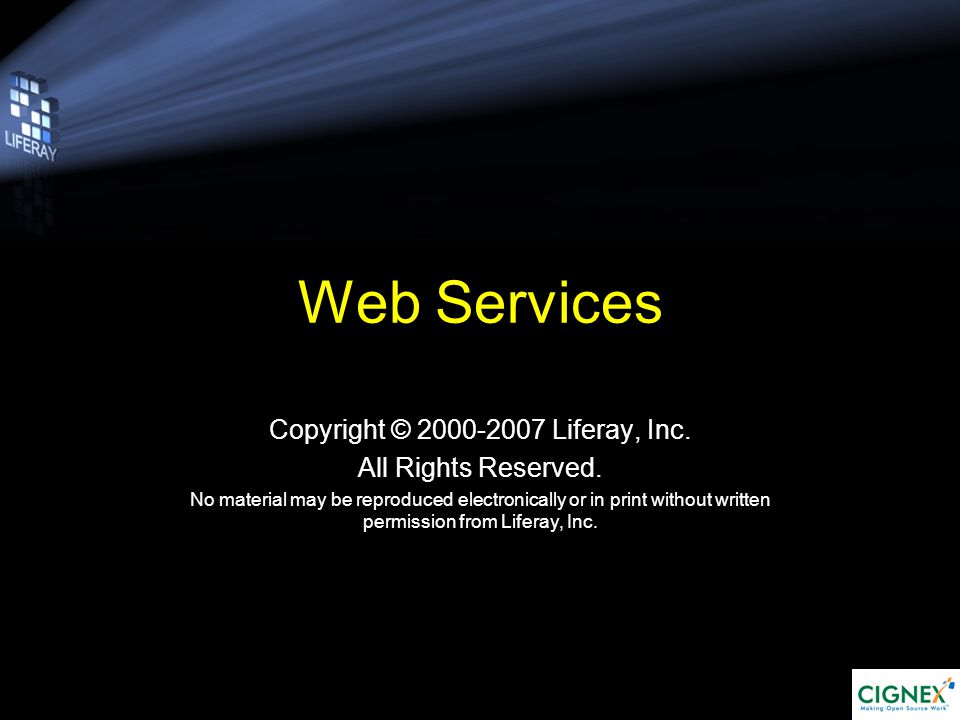 Objectives Web Services 1.What is WS? 2.How does it work? 3.WS in Action 4.An Example in Liferay