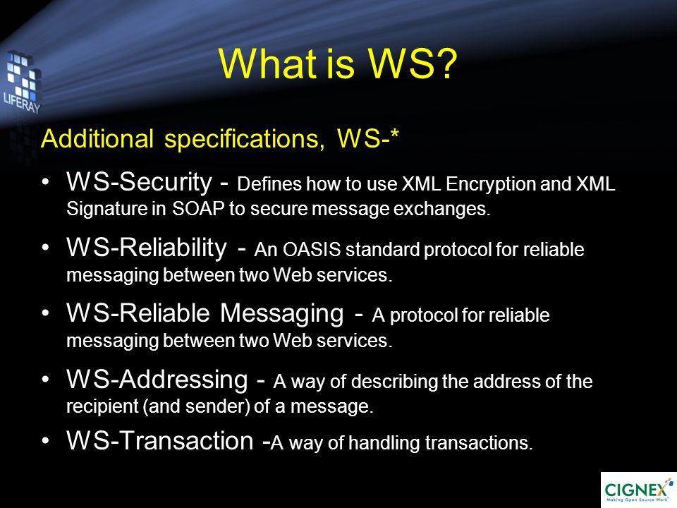 How WS Works Service Registry Service Requestor Service Provider Bind Find Publish
