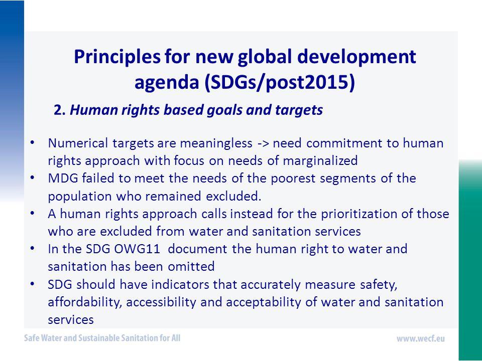 Principles for new global development agenda (SDGs/post2015) 2.