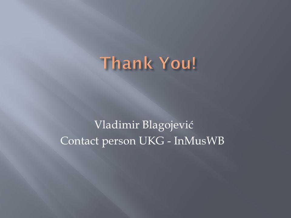 Vladimir Blagojević Contact person UKG - InMusWB