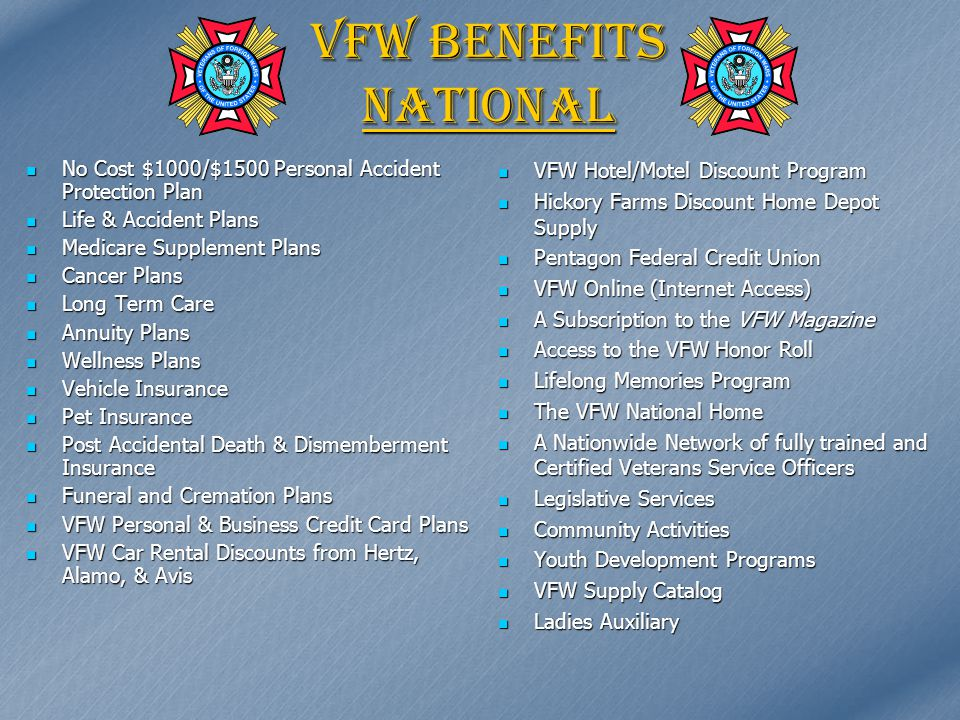 Benefits of VFW Membership