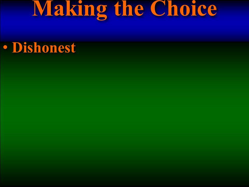 Dishonest Dishonest