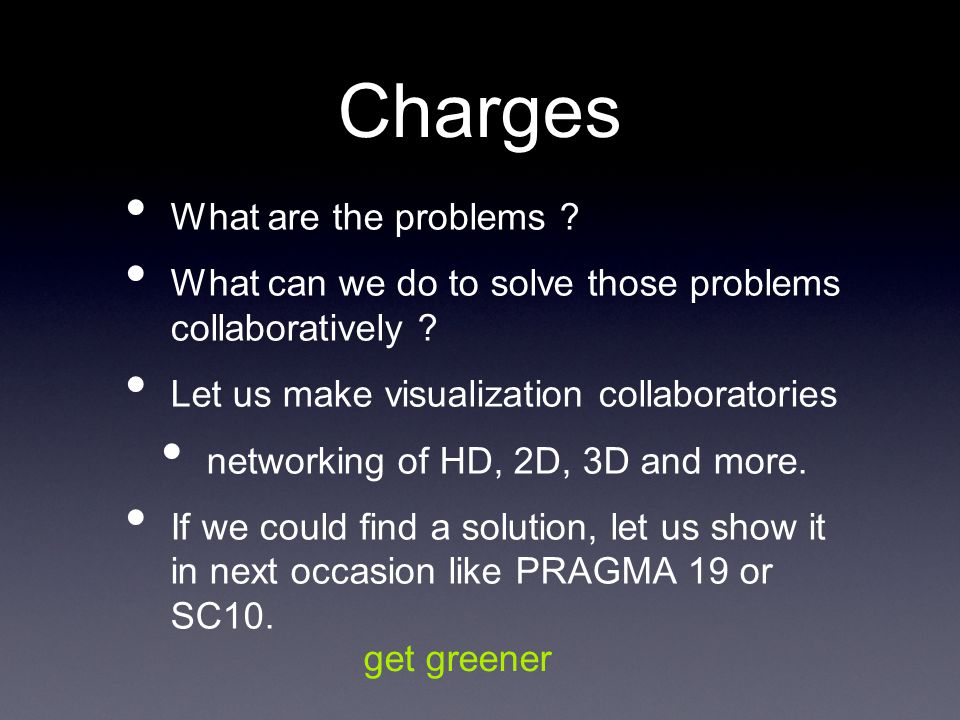 Charges What are the problems . What can we do to solve those problems collaboratively .