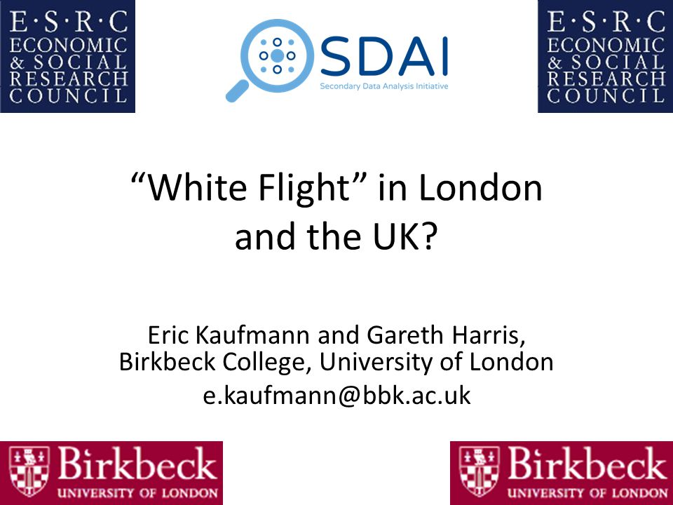 White Flight in London and the UK.