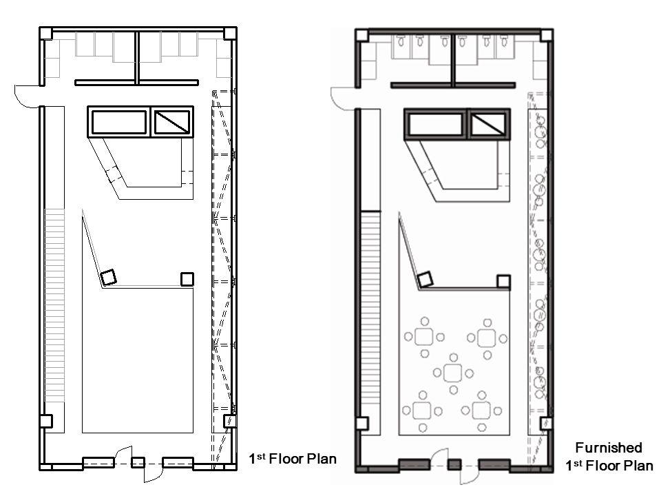 1 st Floor Plan Furnished 1 st Floor Plan
