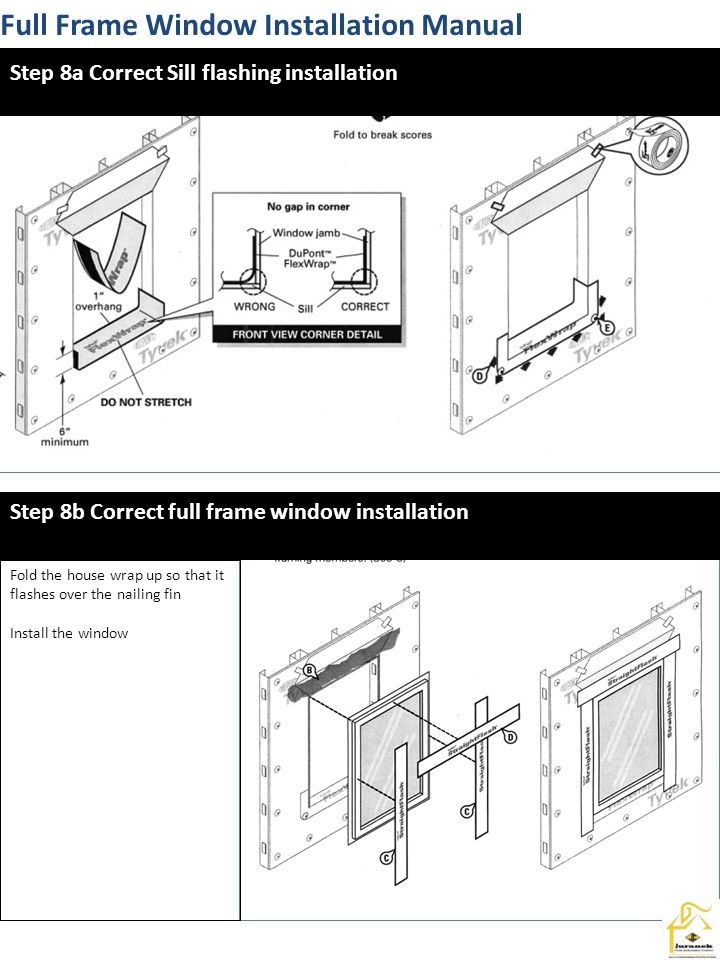Sash Opening Window Installation Manual This allows for the new window to set tight to the window stool.