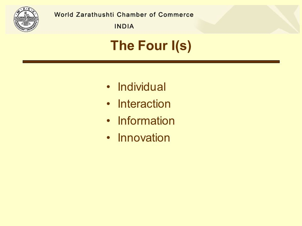 The Four I(s) Individual Interaction Information Innovation
