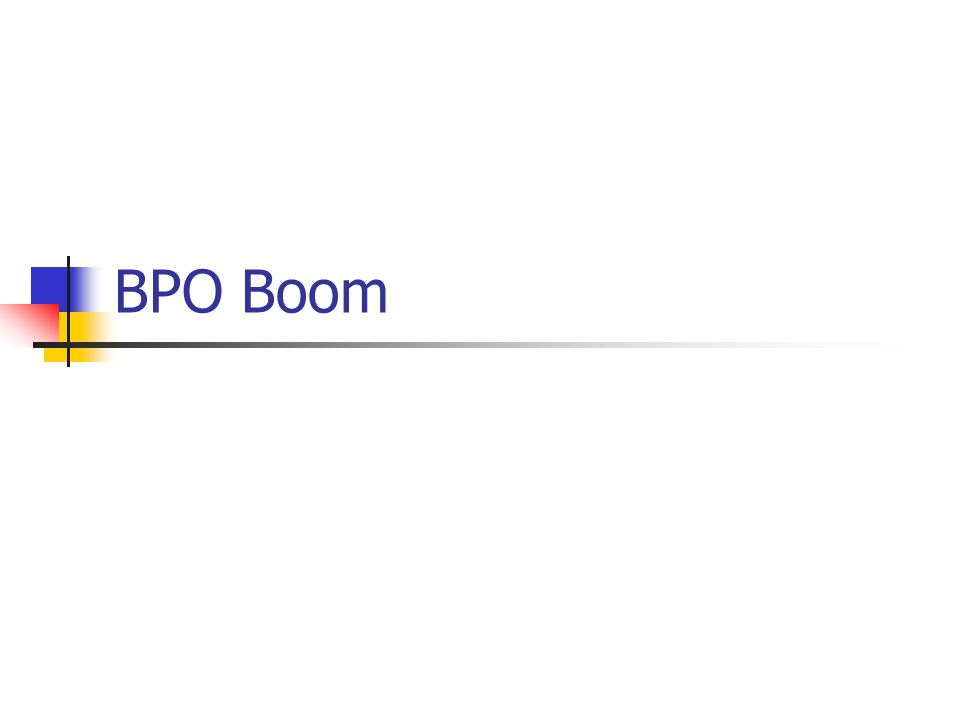 BPO Boom