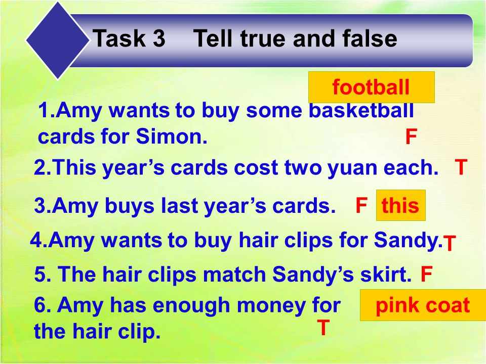 1.Amy wants to buy Simon ___.3. Amy takes ____as Sandy's present.