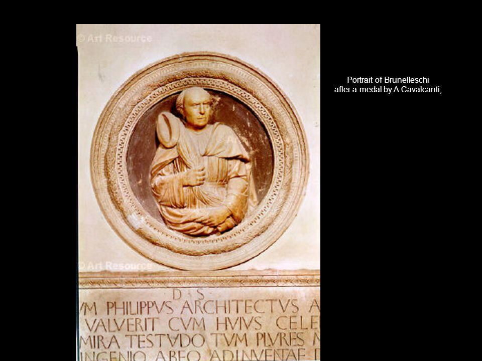 Portrait of Brunelleschi after a medal by A.Cavalcanti,