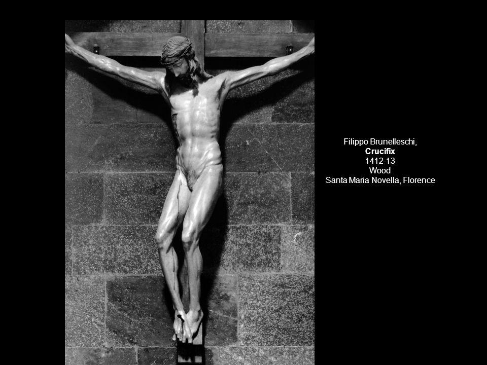 Filippo Brunelleschi, Crucifix 1412-13 Wood Santa Maria Novella, Florence