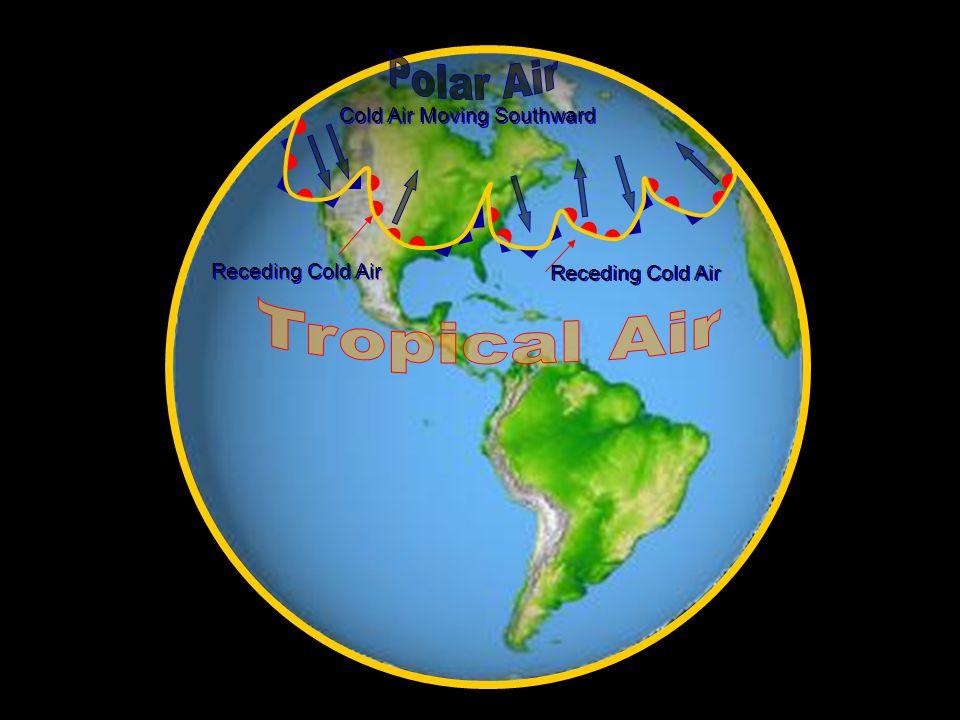 Cold Air Moving Southward Receding Cold Air
