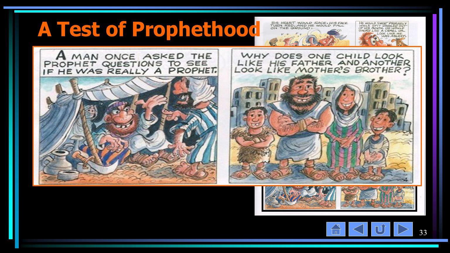 33 A Test of Prophethood