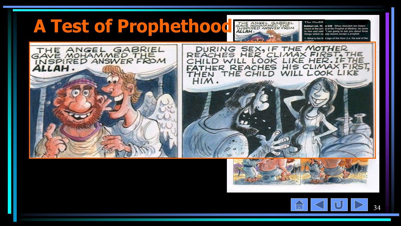 34 A Test of Prophethood