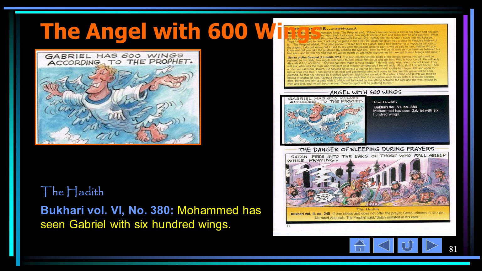 81 The Angel with 600 Wings The Hadith Bukhari vol.