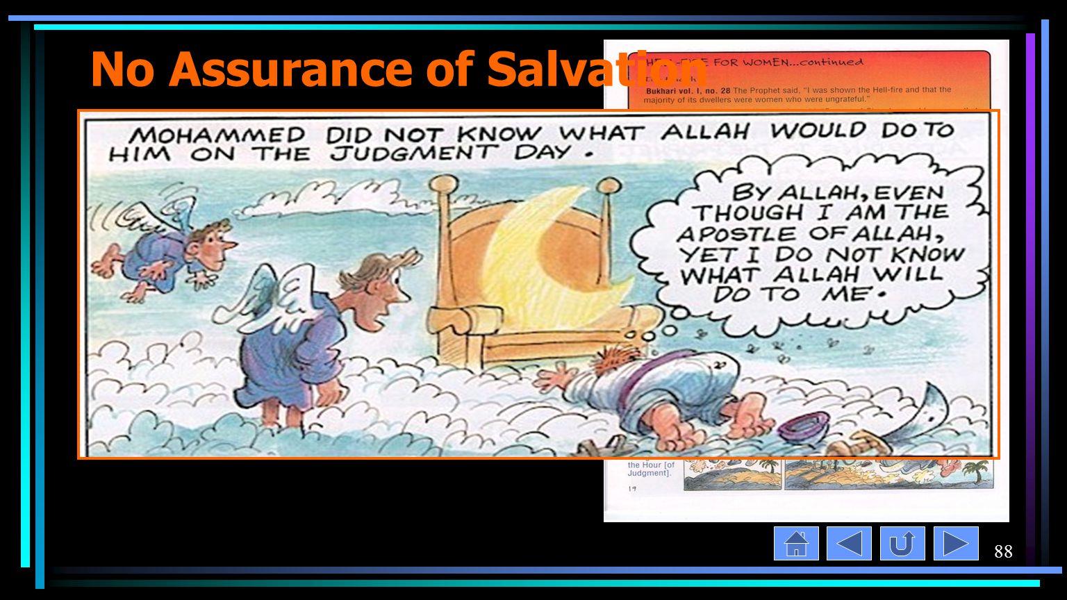 88 No Assurance of Salvation