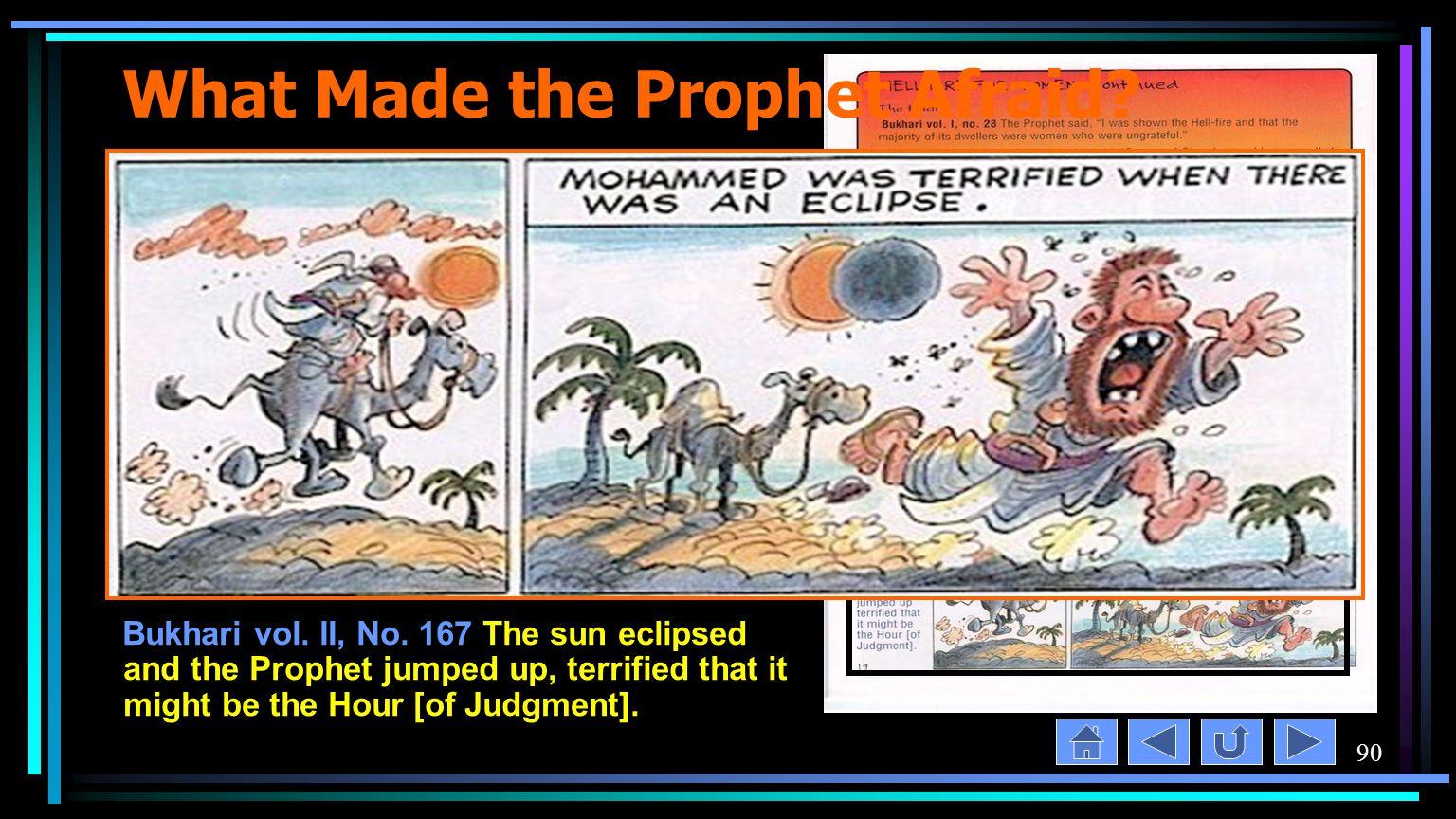 90 What Made the Prophet Afraid. Bukhari vol. II, No.
