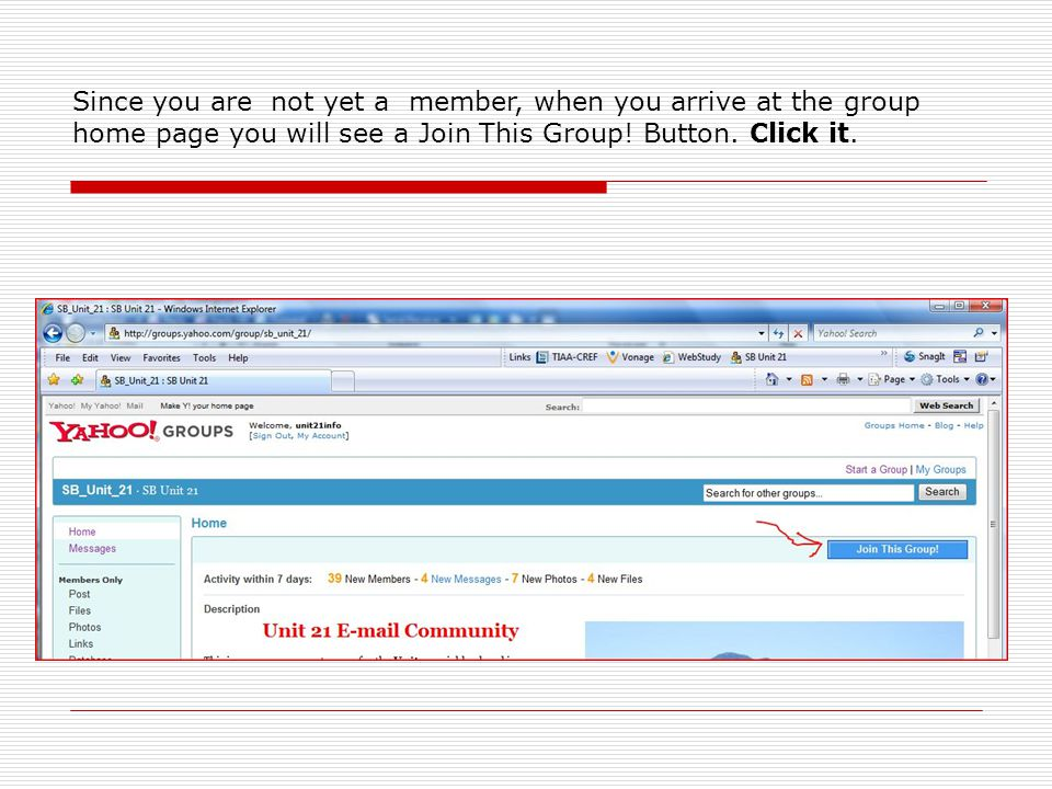 Upon clicking the Join button you arrive at this page where you can edit your membership options.