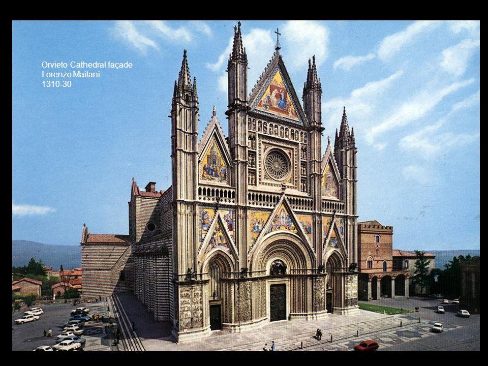 Orvieto Cathedral façade Lorenzo Maitani 1310-30