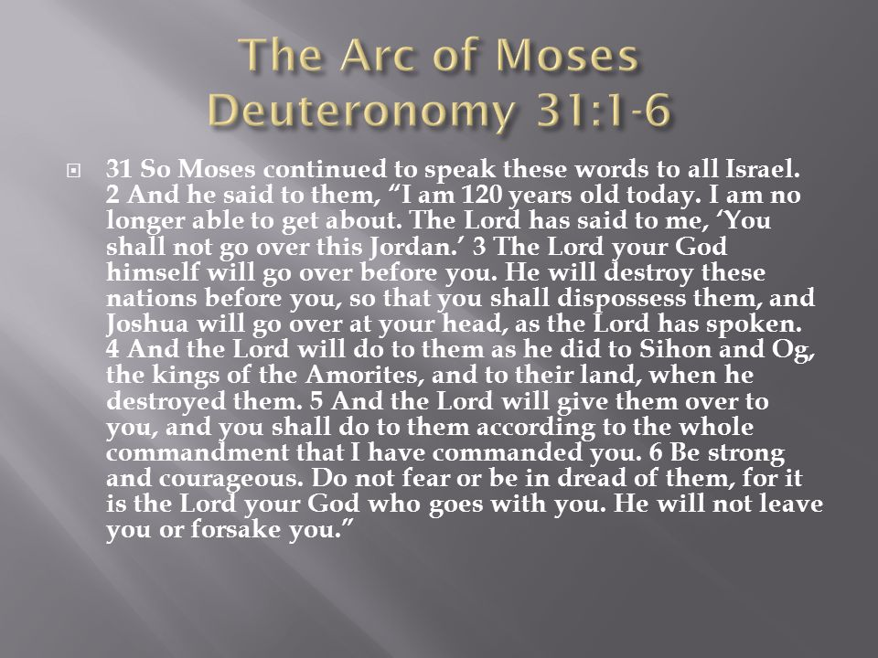  31 So Moses continued to speak these words to all Israel.