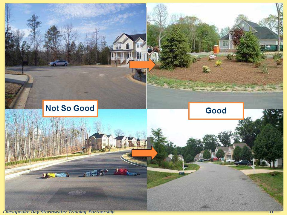 Chesapeake Bay Stormwater Training Partnership31 Not So Good Good