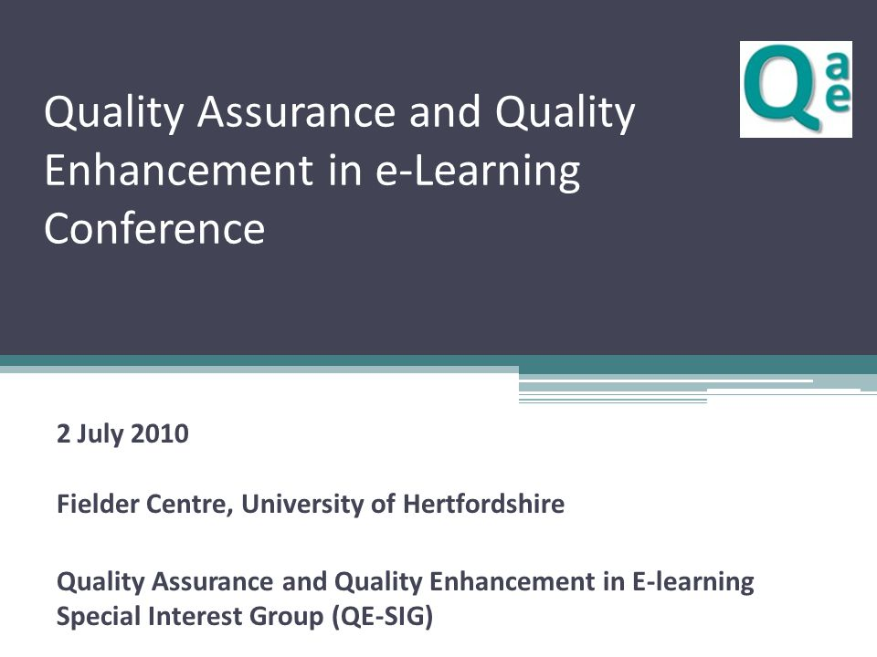 Background HEA/JISC Pathfinder programme ▫ Various projects focusing on quality and enhancement Quality Enhancement agenda From Pedagogic Research to Embedded E-learning (PREEL), Institute of Education, London