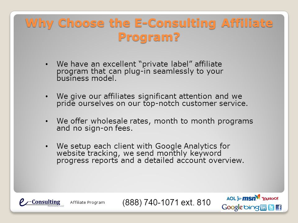 Why Choose the E-Consulting Affiliate Program.