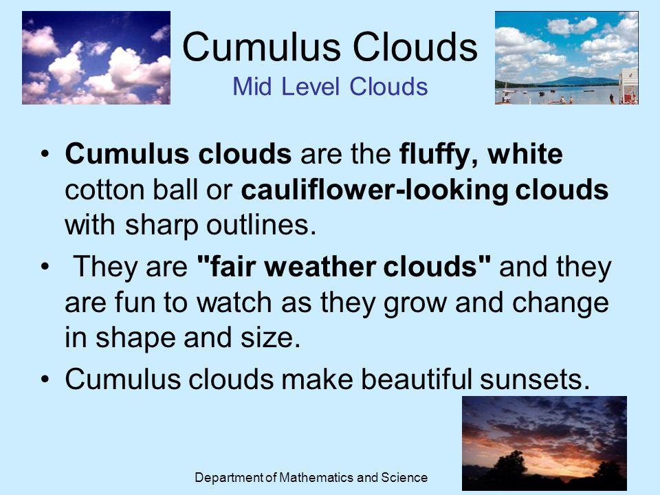 Weather Sites for Kids http://www.edheads.org/activities/weather/index.shtml http://weather.weatherbug.com/weather- education/exploration_zone.asp?focus=2http://weather.weatherbug.com/weather- education/exploration_zone.asp?focus=2 http://weatherwizkids.com/ http://scijinks.jpl.nasa.gov/weather-menu http://www.eo.ucar.edu/webweather/ http://www.bbc.co.uk/schools/whatisweather/ http://www.scilinks.org/Harcourt_Hsp/HspStudentRetrieve.aspx?Code=HSP103 http://www.internet4classrooms.com/science_elem_weather.htm http://www.fi.edu/weatherED/ Department of Mathematics and Science