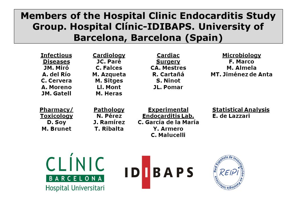 Members of the Hospital Clinic Endocarditis Study Group.