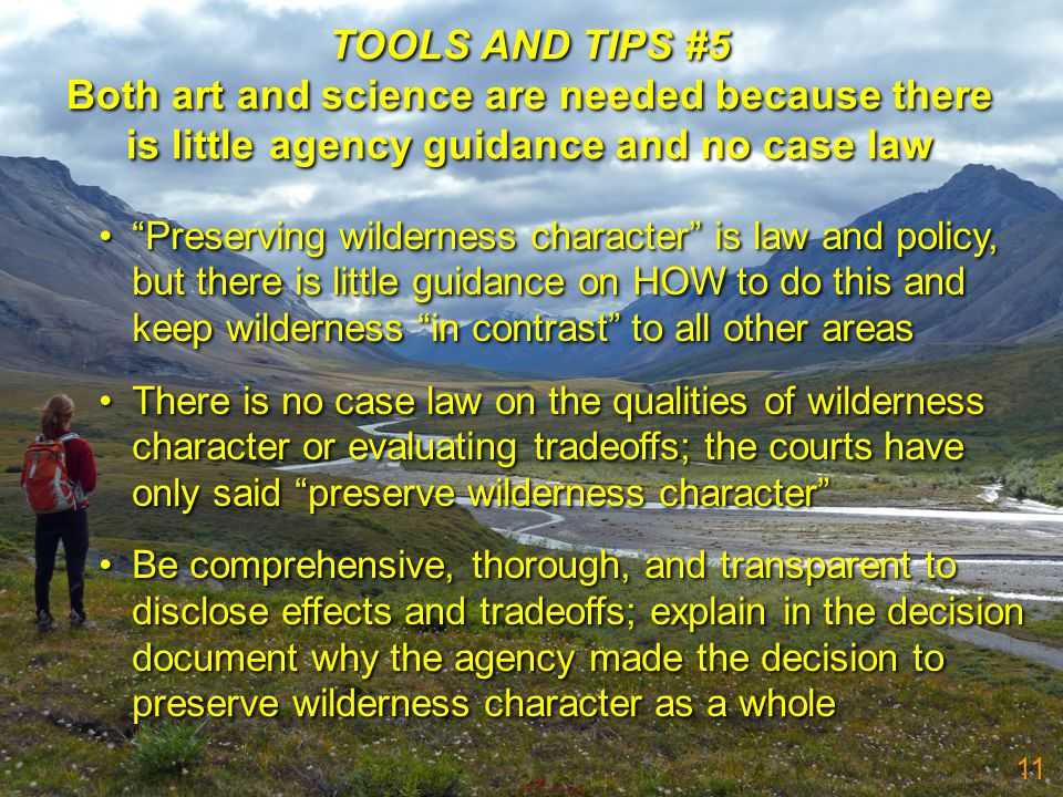 TOOLS AND TIPS #5 Both art and science are needed because there is little agency guidance and no case law TOOLS AND TIPS #5 Both art and science are n