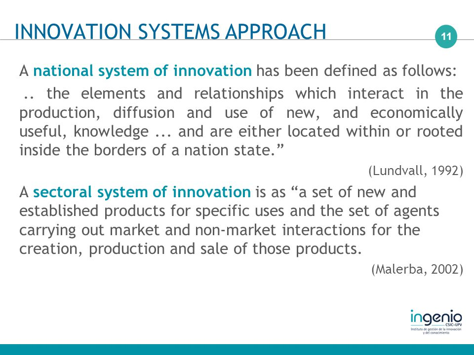 11 A national system of innovation has been defined as follows:..