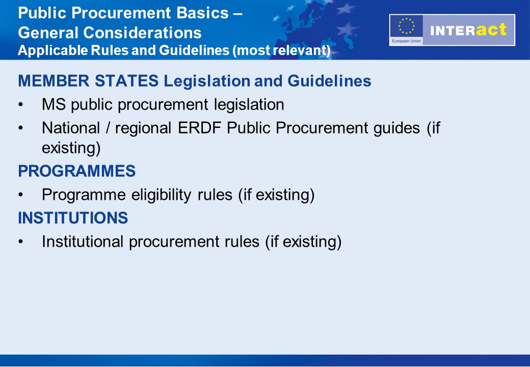 Does the EU Public Procurement Directive 2004/18 EC and MS implementations thereof apply.