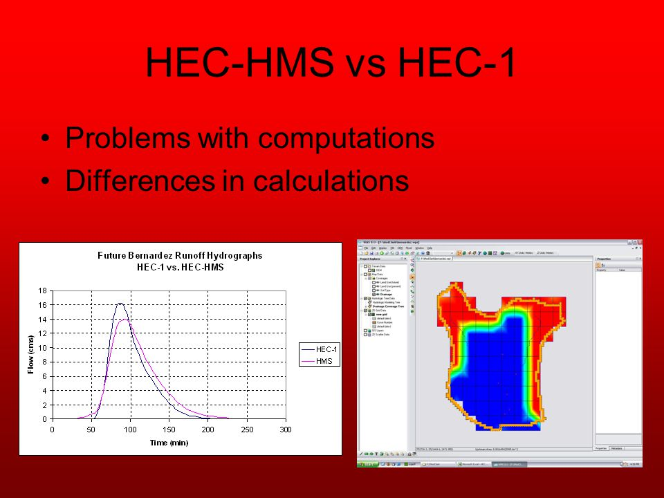 HEC-HMS vs HEC-1 Problems with computations Differences in calculations