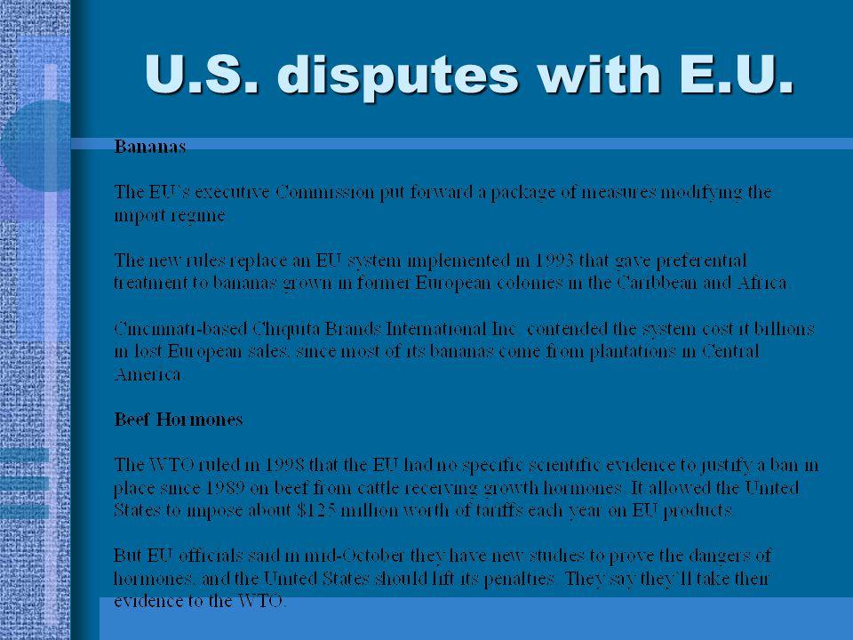 U.S. disputes with E.U.