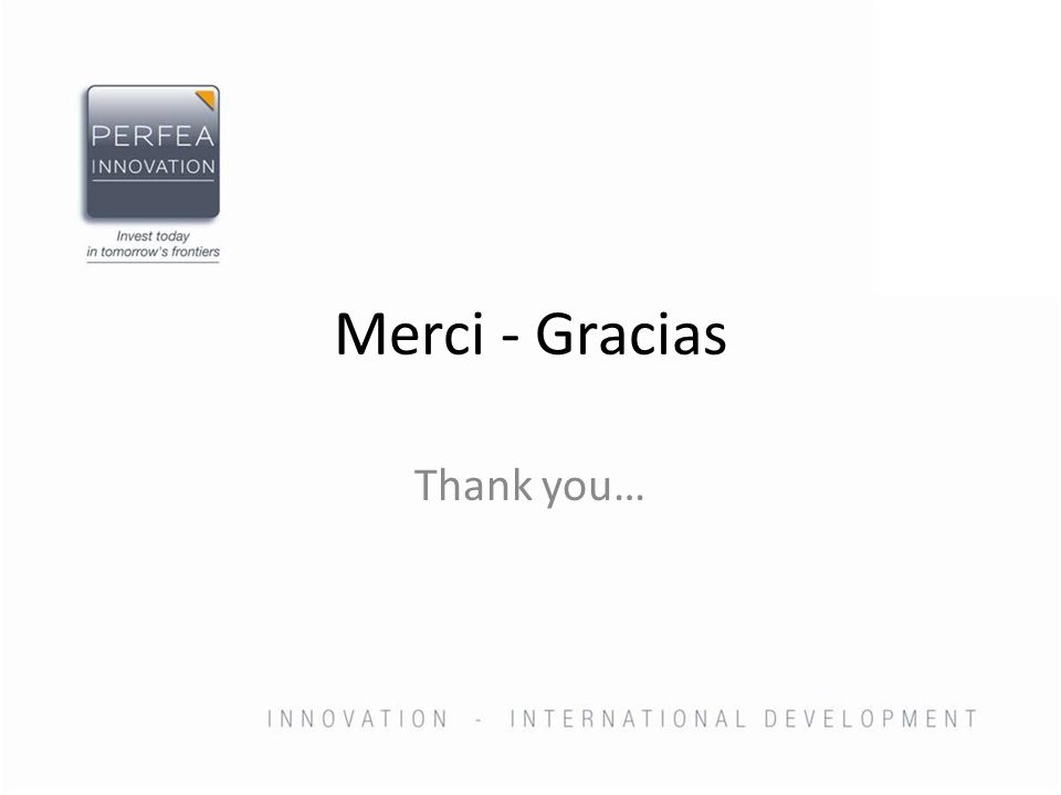 Merci - Gracias Thank you…