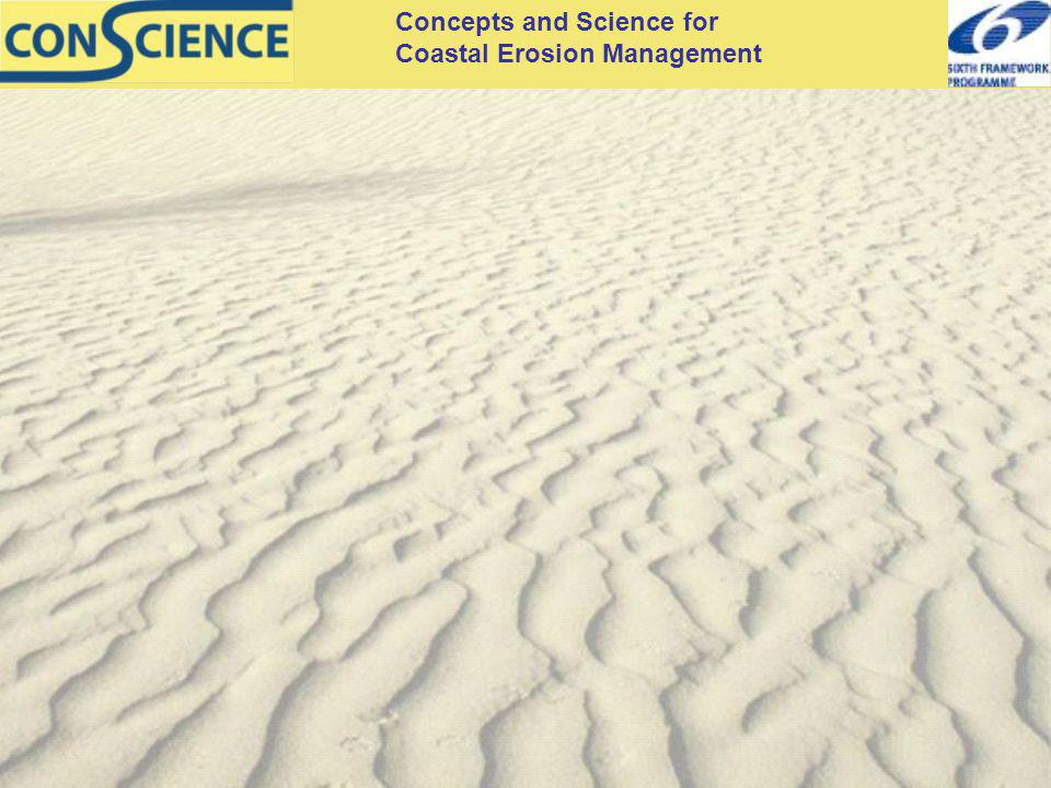 Concepts and Science for Coastal Erosion Management