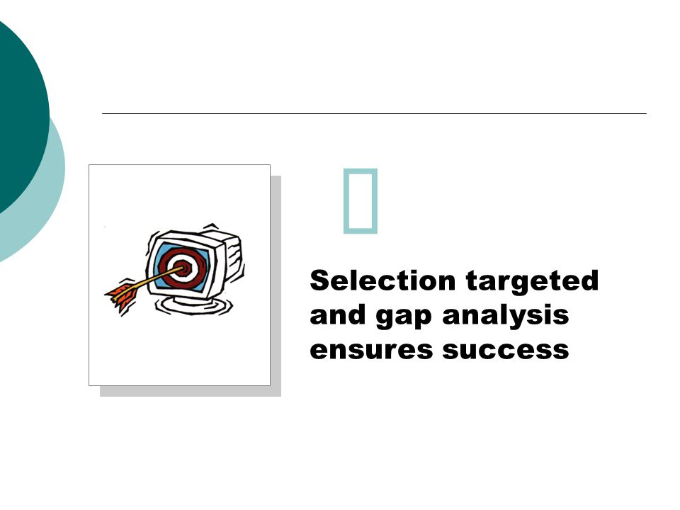 Selection targeted and gap analysis ensures success 