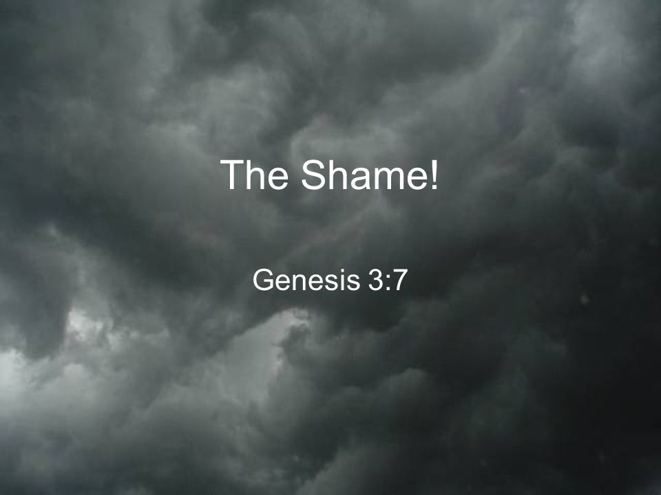 The Shame! Genesis 3:7